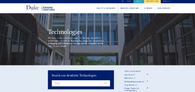 Technology search portal at Duke University OLV